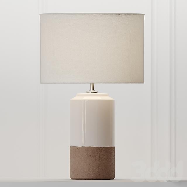 COX & COX Dipped Terracotta Lamp