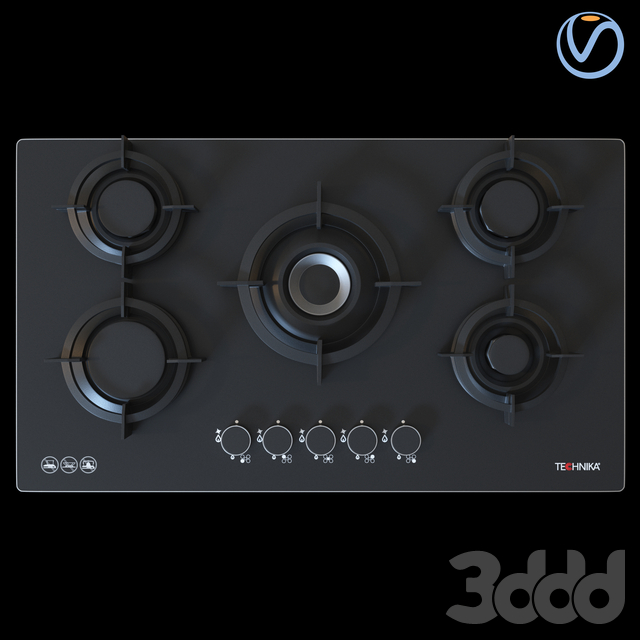 Technika Gas Cooktop H950STBGF Pro