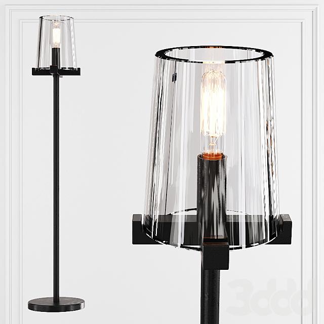 Restoration Hardware PAUILLAC TABLE LAMP Glass shade and Black