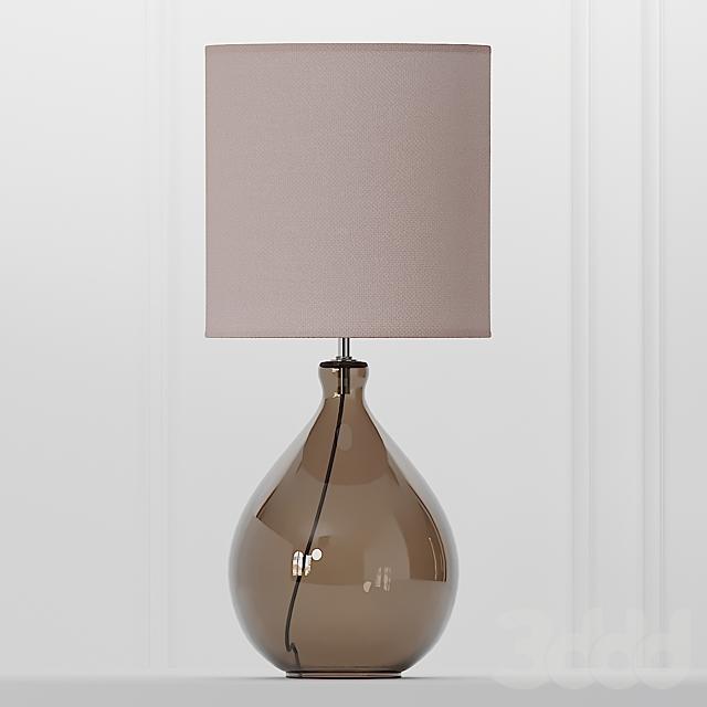 COX & COX Sanna Smoke & Blush Table Lamp