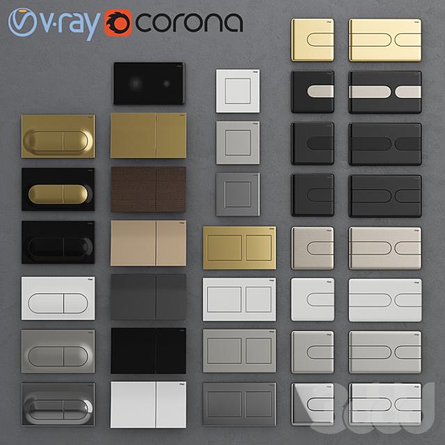 Кнопки смыва для инсталляции Viega 3