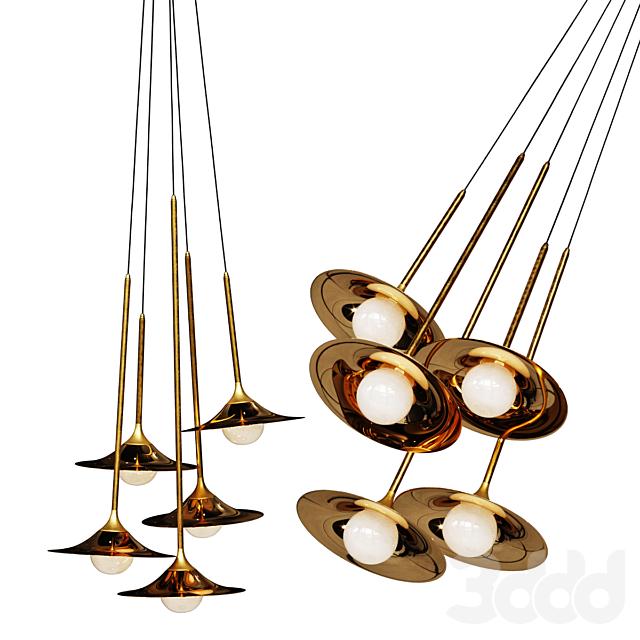 Подвесной светильник Bullarum SS-5 Disk Gold