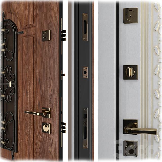 Входная металлическая дверь Вежа 4.2 (Ваша Рамка)