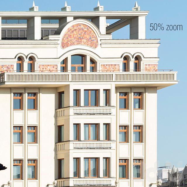 Панорама на фасад делового центра