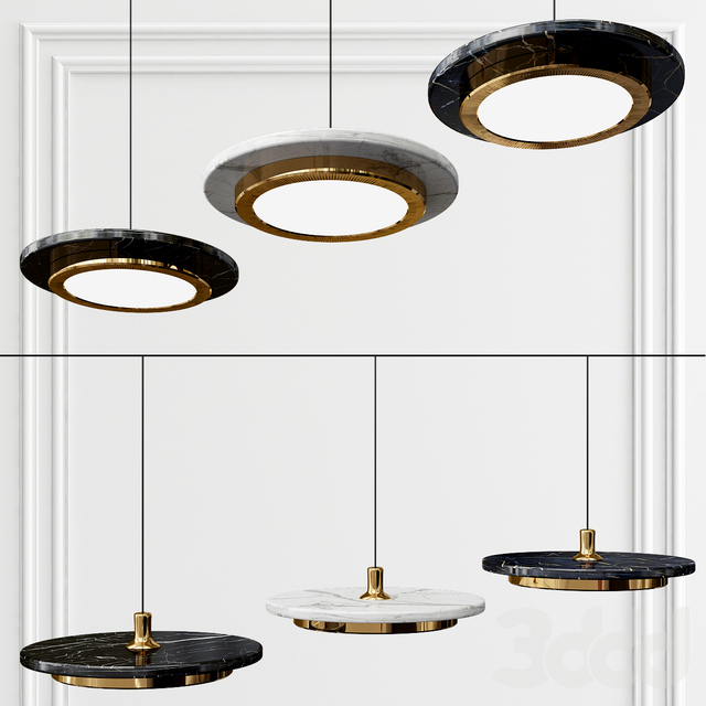 marble led pendant light