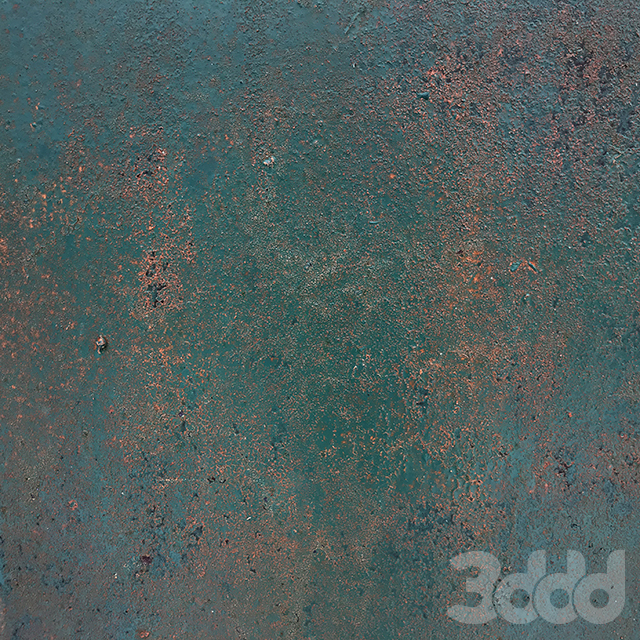 Rusty emerald metal surface