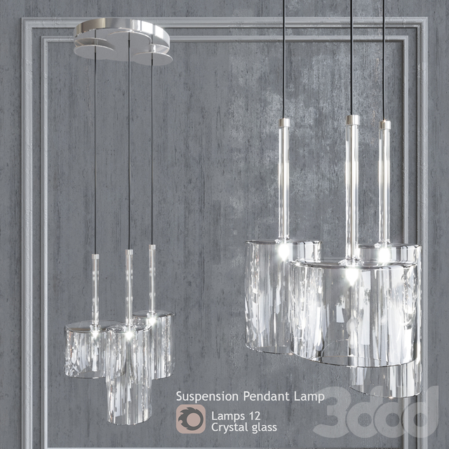 Подвесной светильник AXO Light Spillray SP3 Clear Glass pendant lamp