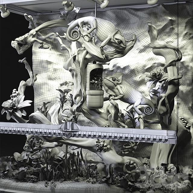 Террариум Exo-terra с хамелеонами