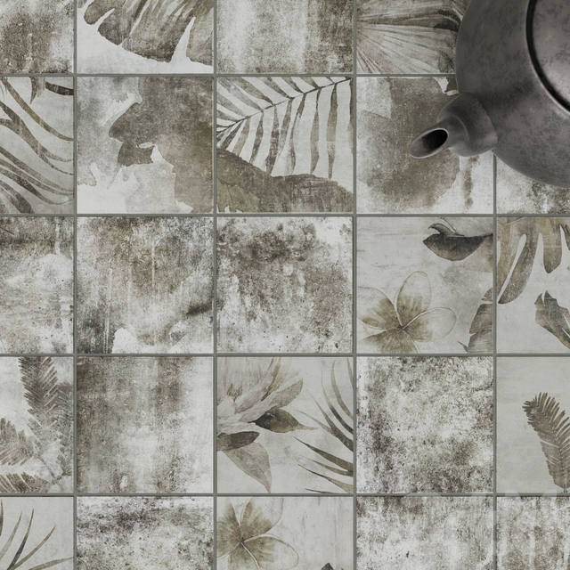ZYX by Colorker AMAZONIA TROPIC GREY tile set