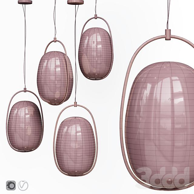 Подвесной светильник Lanna Kundalini Suspension Lamp Black and Brass