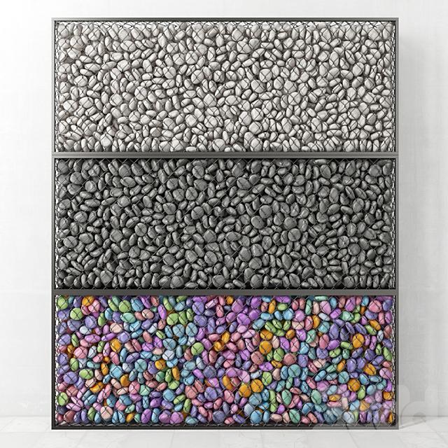 Габион средний с галькой / Gabion medium pebble