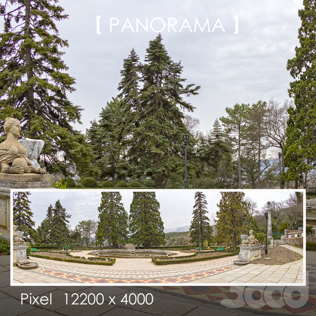 Набор панорам парка