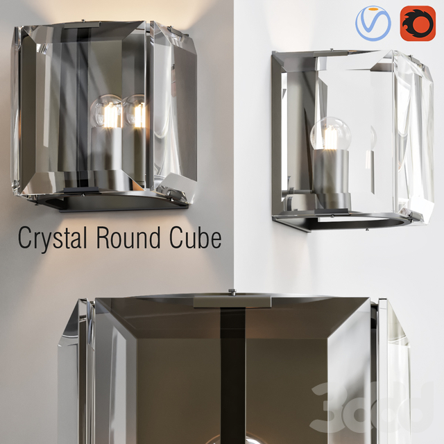 Crystal Round Cube