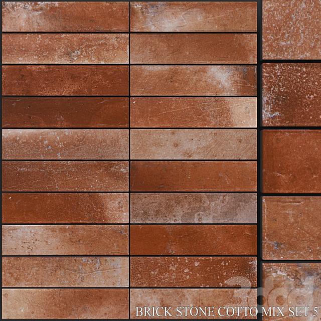 Yurtbay Seramik Brick Stone Cotto Mix Set 5