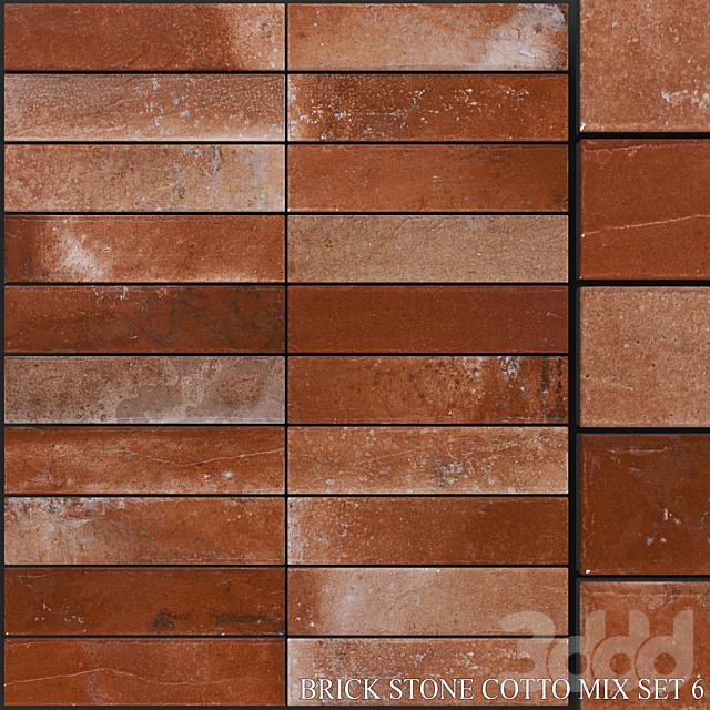 Yurtbay Seramik Brick Stone Cotto Mix Set 6