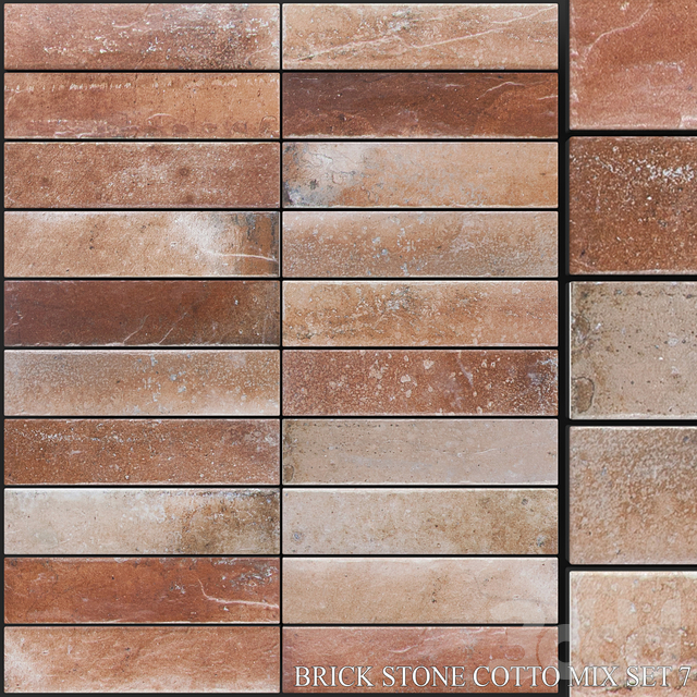Yurtbay Seramik Brick Stone Cotto Mix Set 7