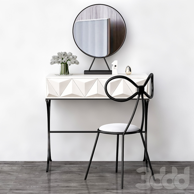 Toilet table - Italian Makeup Suppliers (low poly)