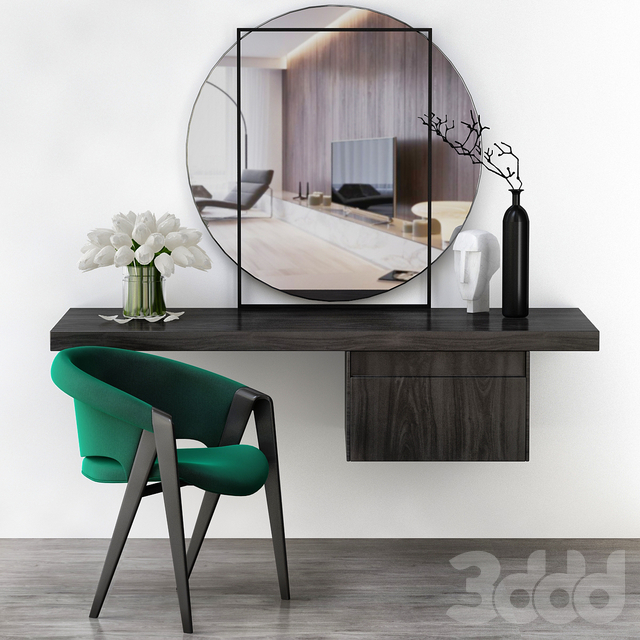 Toilet table - Minotti (low poly)