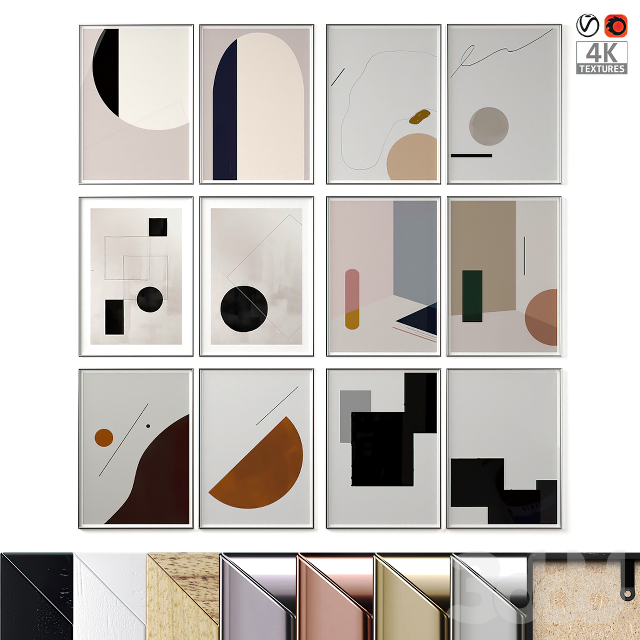 Abstract Posters Set 25