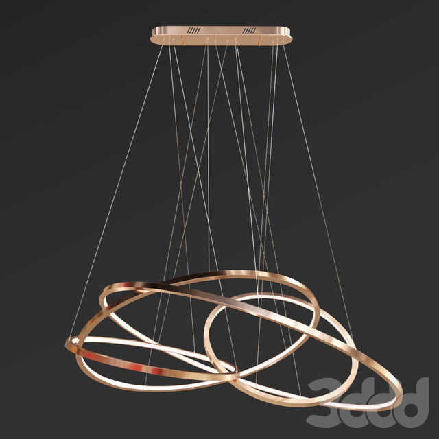 LED Oval Rings Chandelier