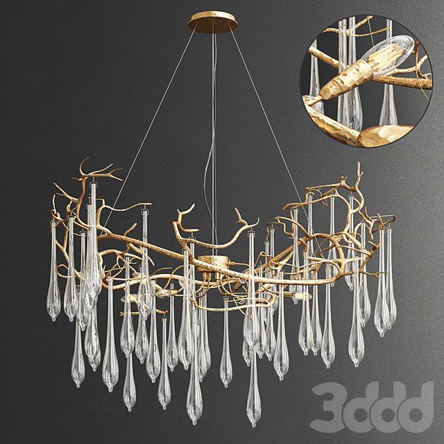 Serip Aqua 8 Lamp Organic Chandelier