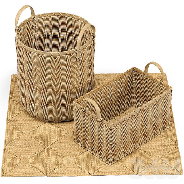 Petaluma Basket, Seagrass Squares Rug