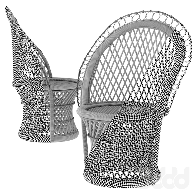 Barrel-Backed Woven Dining Chair