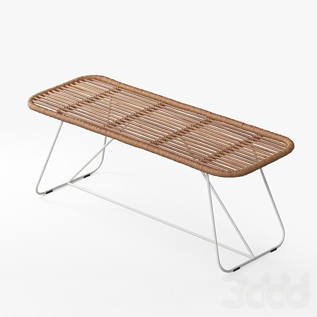 Bare Bamboo Bench
