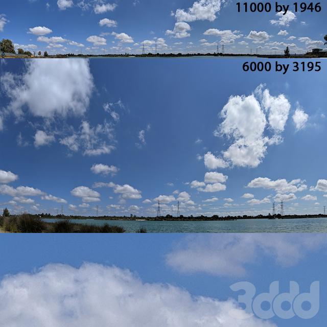blue sky with clouds version 3