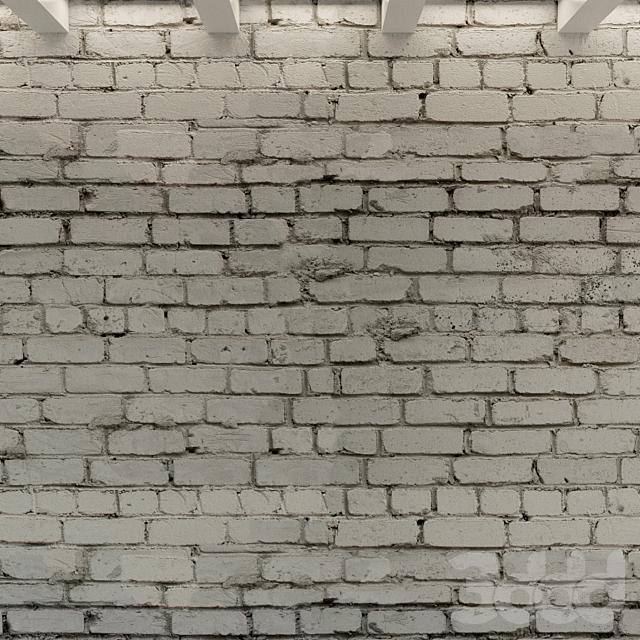 Кирпичная стена. Старый кирпич. 89