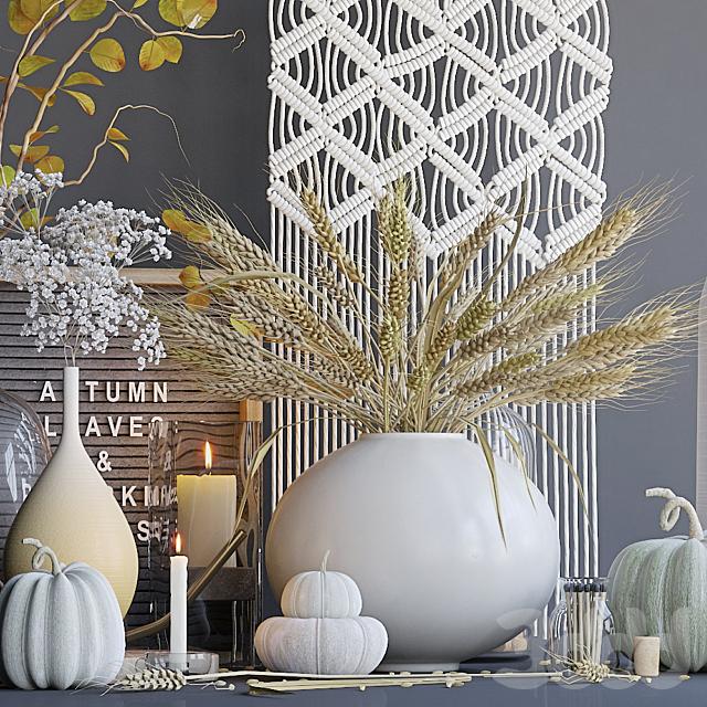Осенний декоративный набор с пшеницей