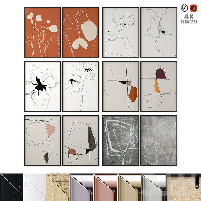 Abstract Posters Set 27