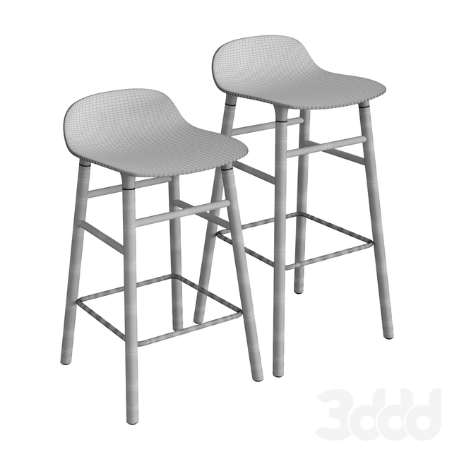 Form Wooden Barstool