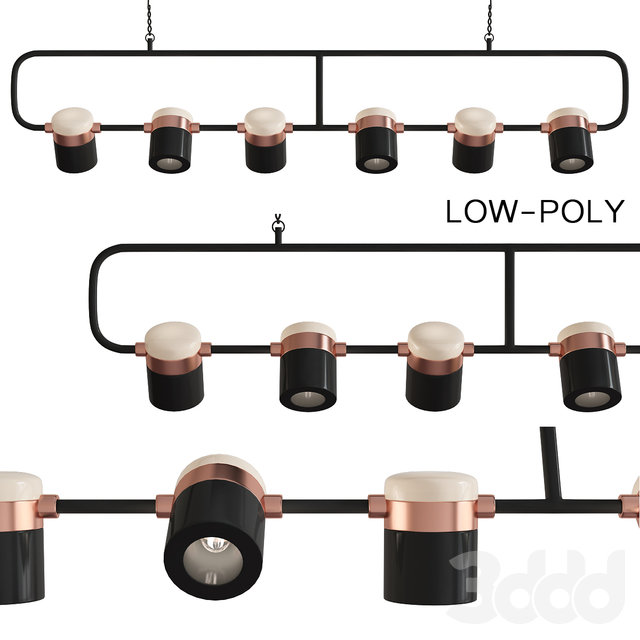 Seed Design Ling PL6 Linear Suspension Light