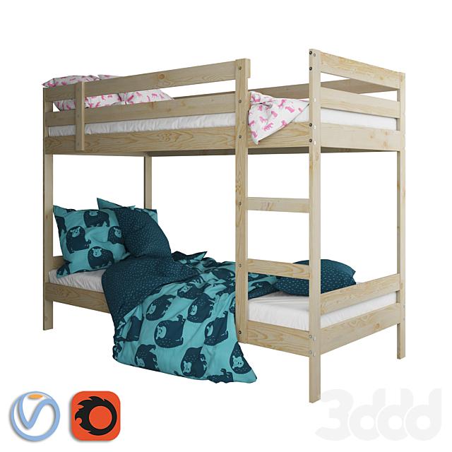 IKEA MYDAL Bed / Кровать ИКЕА МИДАЛ