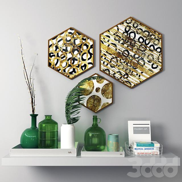 Декоративный набор в скандинавском стиле