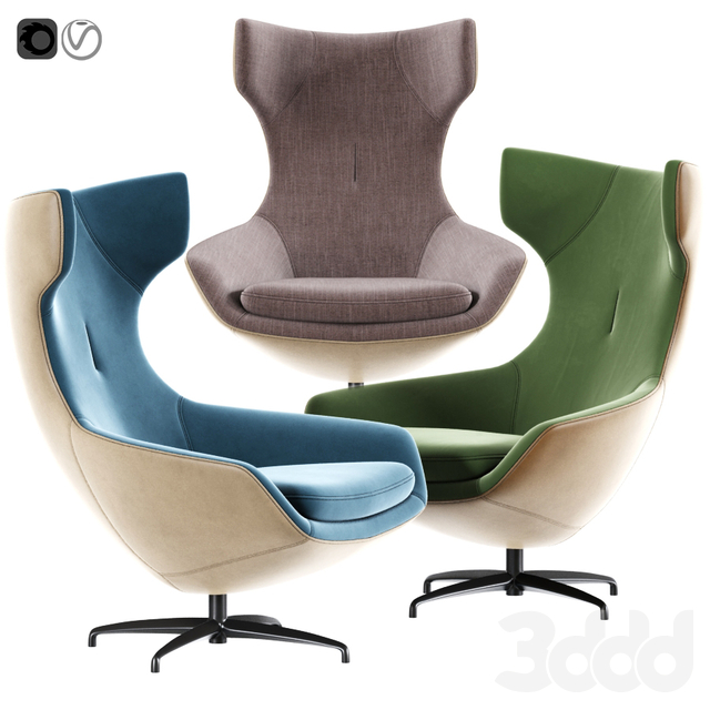 Swivel Armchair 03