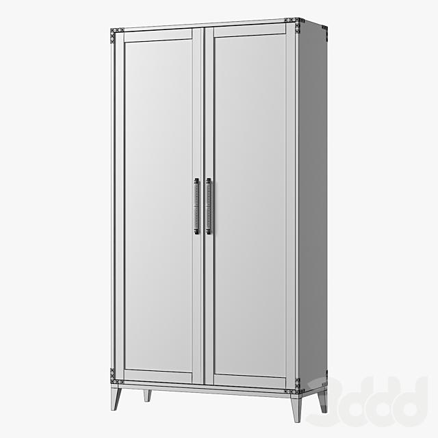 CAYDEN CAMPAIGN PANEL DOUBLE-DOOR CABINET