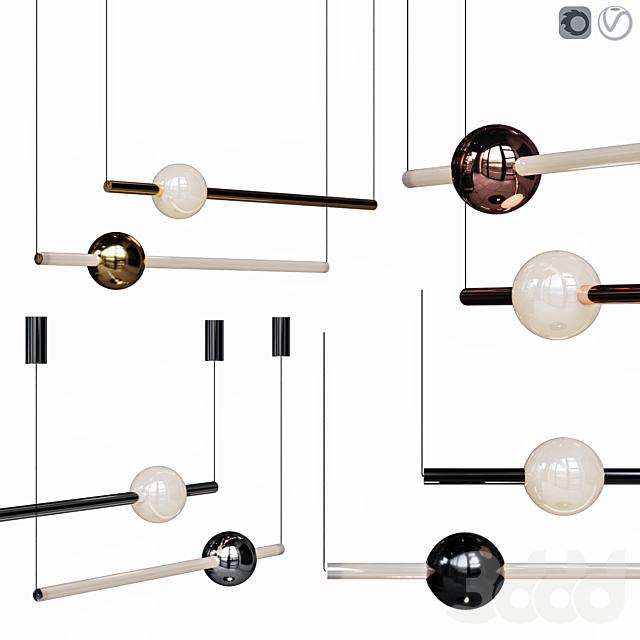 Lee Broom ORION GLOBE LIGHT Set Gold/Chrome/Copper/Black