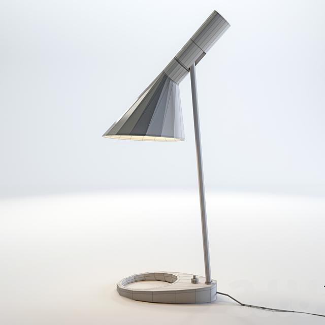 Легендарная настольная лампа AJ от Louis Poulsen дизайнера Arne Jacobsen .