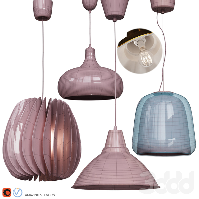 Four Pendant Lights amazing set vol.15