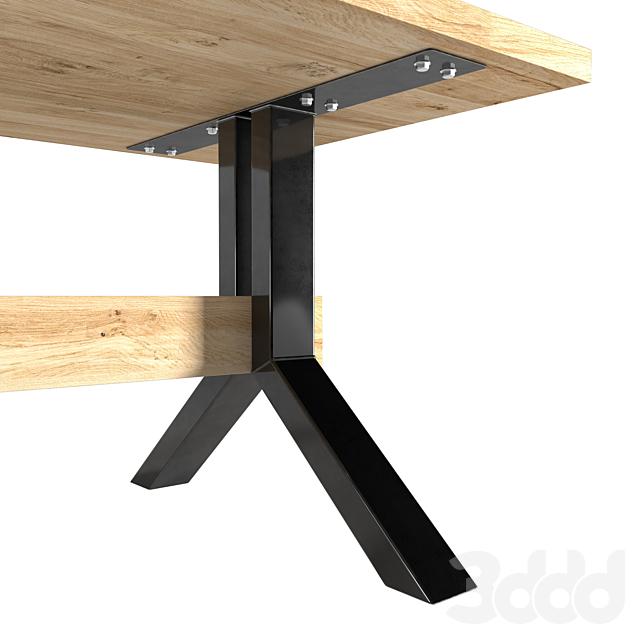 oak table - Harlem, old oak Oldwood