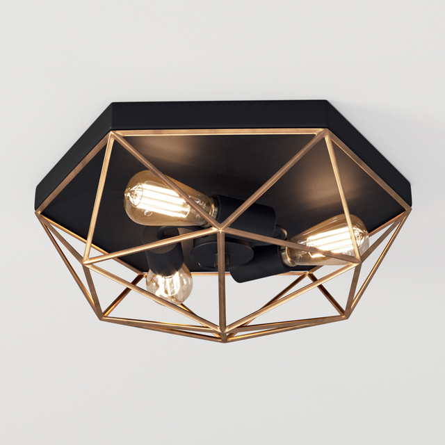 Prismatic Wire Cage Ceiling Light