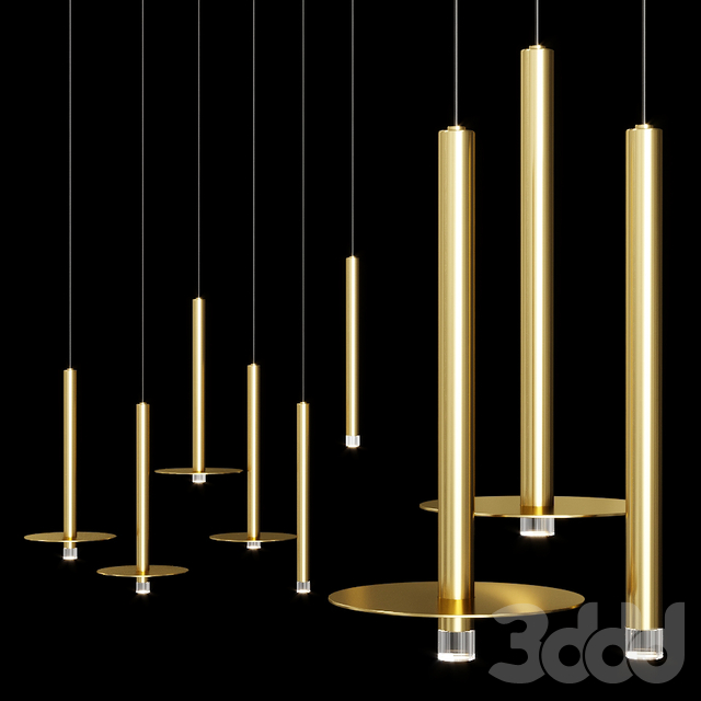 Grok CANDLE LED pendant lamp Brass