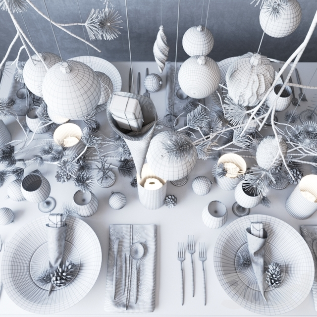"Сервировка ""Dark Christmas"""