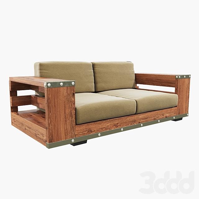 2-seater industrial sofa