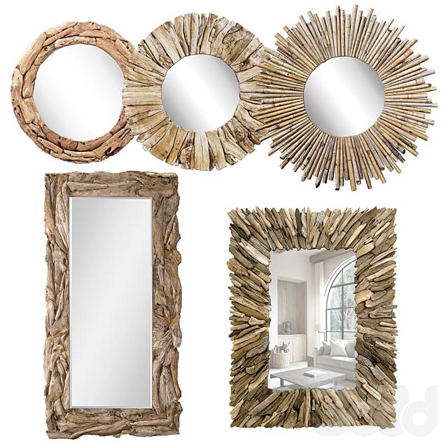 Firewood Mirror Wood