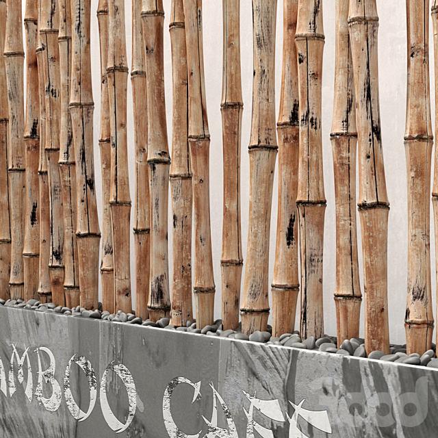 Bamboo decor fundament / Декор из бамбука с фундаментом