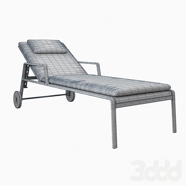 Kettal Park Life Deckchair 11600 pillows