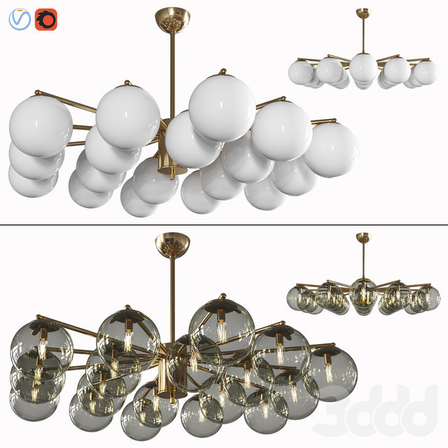 Globes chandelier by Fabio Ltd